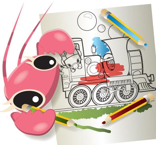Colour in the Bubble Train